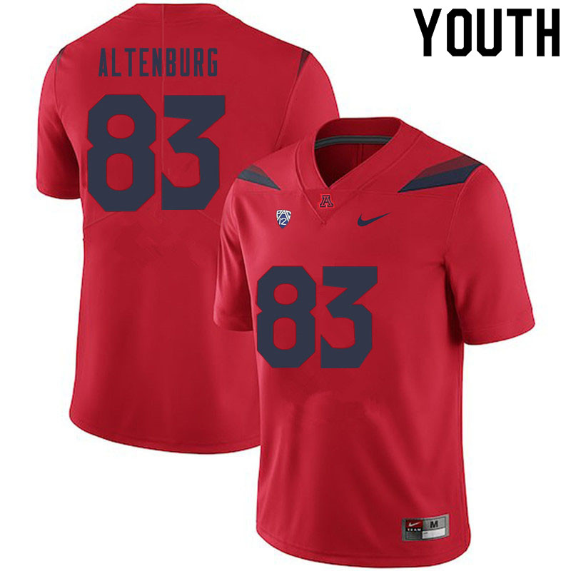 Youth #83 Karl Altenburg Arizona Wildcats College Football Jerseys Sale-Red