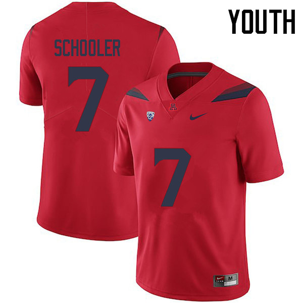 Youth #7 Colin Schooler Arizona Wildcats College Football Jerseys Sale-Red