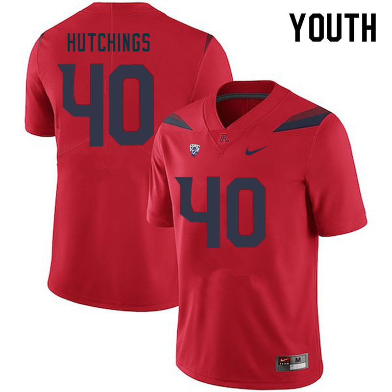 Youth #42 Connor Hutchings Arizona Wildcats College Football Jerseys Sale-Red