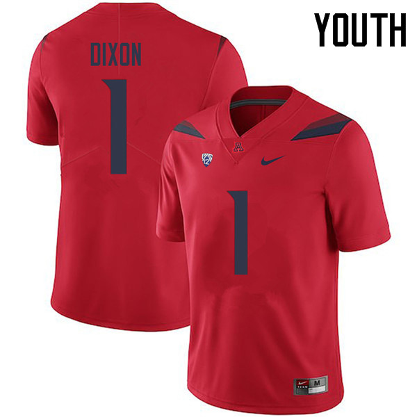 Youth #1 Drew Dixon Arizona Wildcats College Football Jerseys Sale-Red