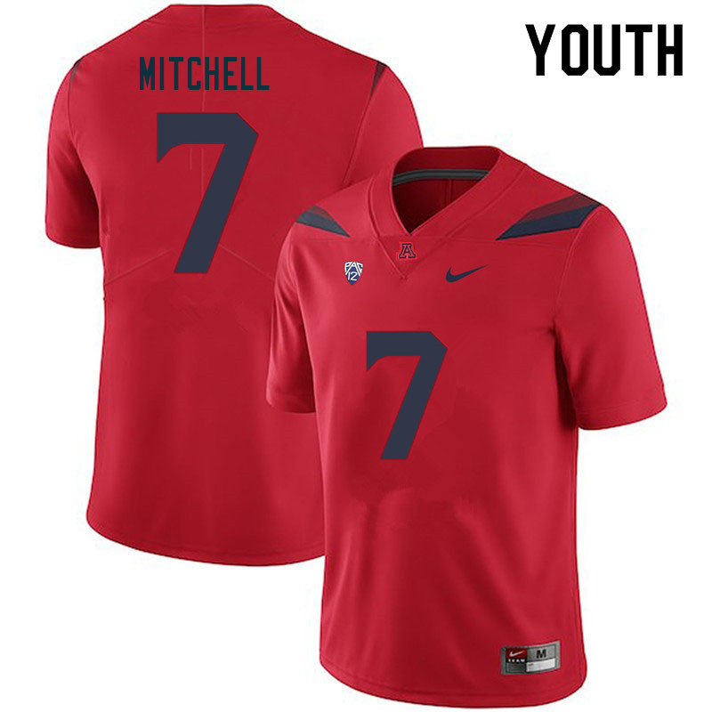 Youth #7 Jaden Mitchell Arizona Wildcats College Football Jerseys Sale-Red