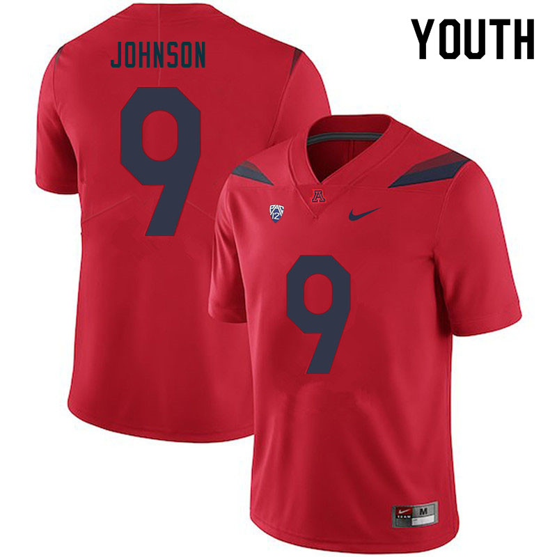 Youth #9 Jalen Johnson Arizona Wildcats College Football Jerseys Sale-Red