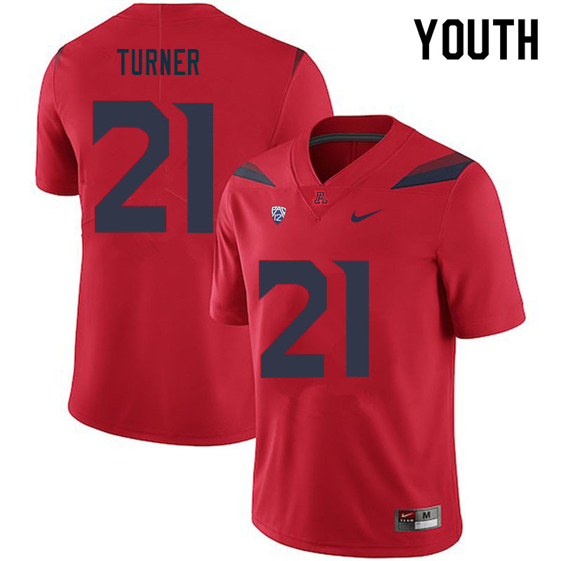 Youth #21 Jaxen Turner Arizona Wildcats College Football Jerseys Sale-Red