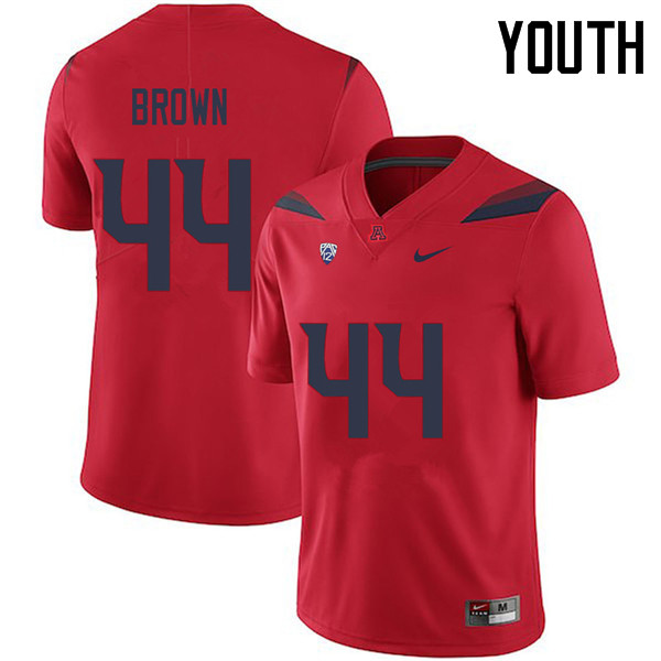 Youth #44 Kurtis Brown Arizona Wildcats College Football Jerseys Sale-Red