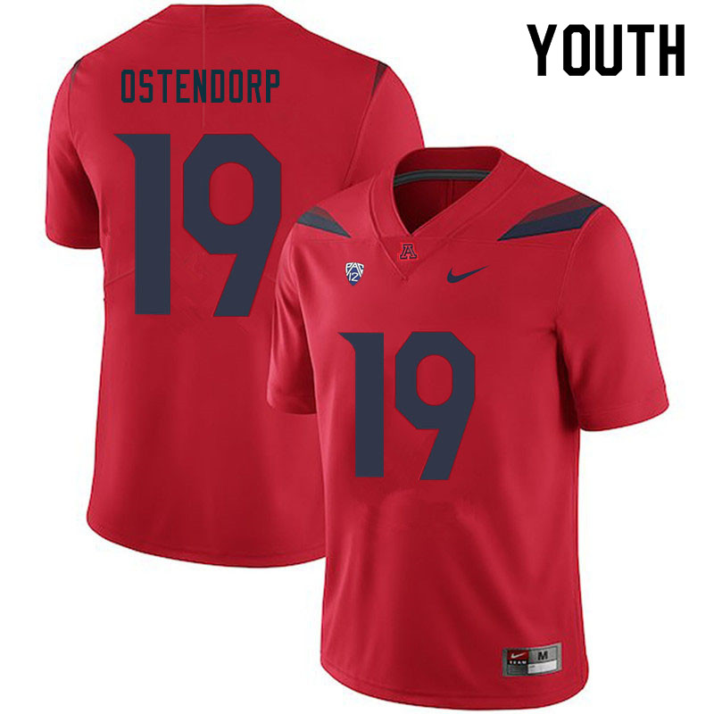 Youth #19 Kyle Ostendorp Arizona Wildcats College Football Jerseys Sale-Red