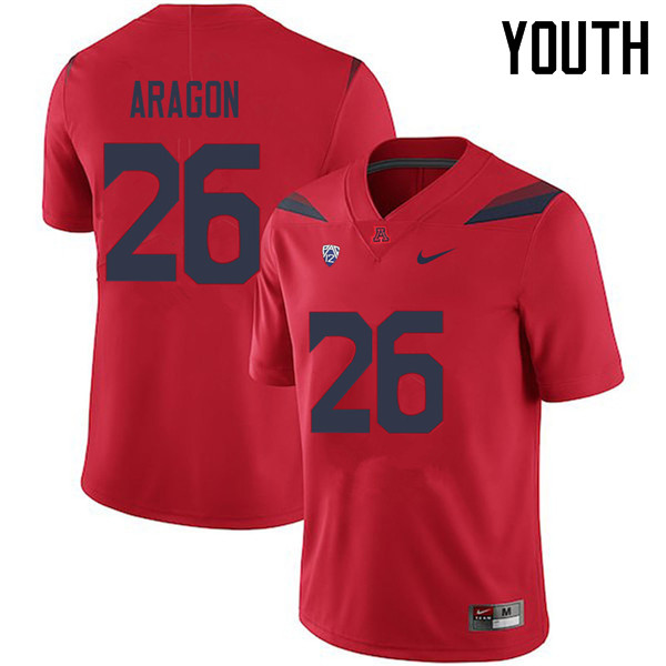Youth #26 Matt Aragon Arizona Wildcats College Football Jerseys Sale-Red
