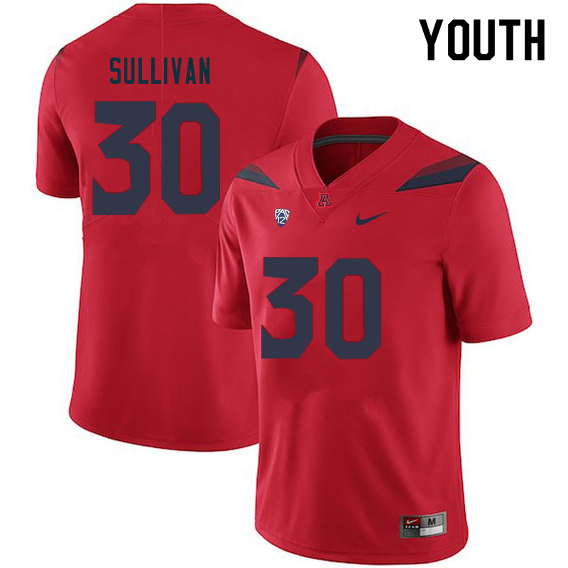Youth #30 Quinn Sullivan Arizona Wildcats College Football Jerseys Sale-Red