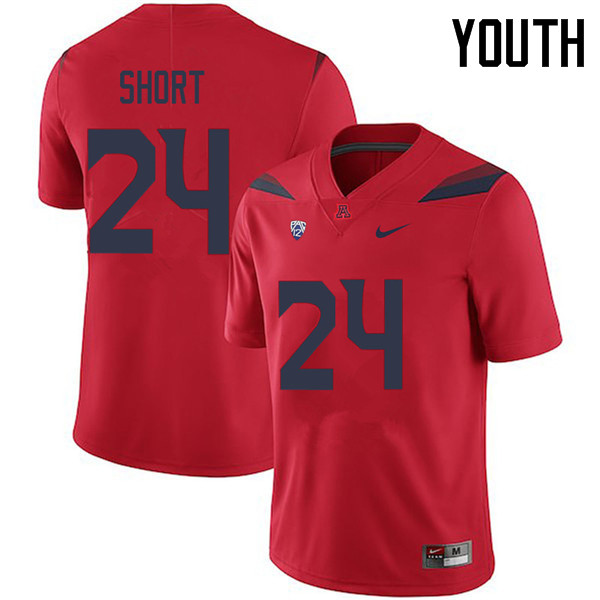 Youth #24 Rhedi Short Arizona Wildcats College Football Jerseys Sale-Red