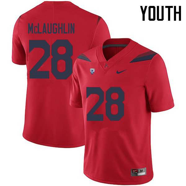 Youth #28 Steve McLaughlin Arizona Wildcats College Football Jerseys Sale-Red